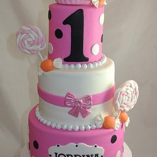 Sweets themed 1st Birthday Cake - Cake by Amanda