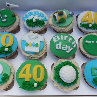 Golf themed cupcakes - Cake by Mrsmurraycakes
