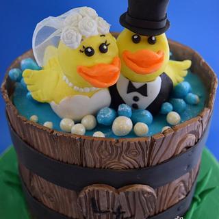 Rubber Ducky Wedding Cake - Cake by Cathy Leavitt