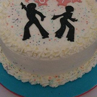 70s inspired disco cake