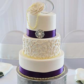 A vintage wedding cake