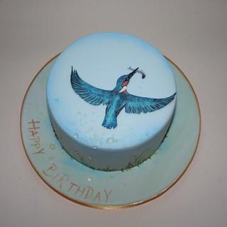 Kingfisher birthday cake