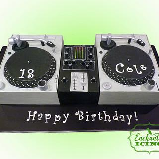 Retro DJ birthday cake