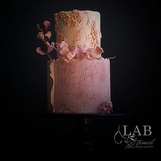 stone-age moody wedding cake