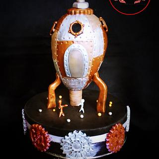 STEAMPUNK ROCKET - Steam Cakes Collaboration