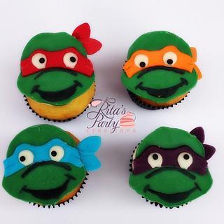 Teenage Mutant Ninja Turtle Cupcakes - Cake by Ritas Creations