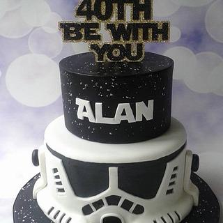 May the 40th be with you - Cake by Jenny Dowd