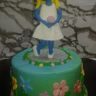 Smurfette cake  - Cake by Maria Tsilinikou