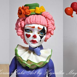 sad clown topper