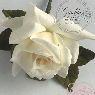 white rose flower paste