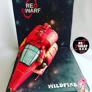 Red Dwarf cake collaboration piece