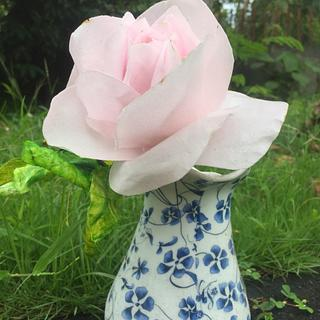 Simple Wafer Paper Rose