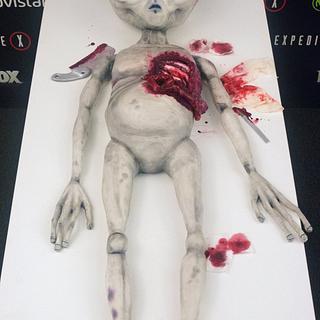 Alien Cake for X-Files Premiere