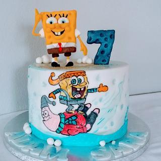 Spongebob - Cake by alenascakes