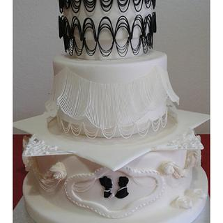 Weeding cake Royal Icing  estencion