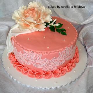 Peony cake - Cake by Svetlana Hristova