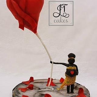 UNSA Cake - Gravity Defying Balloon