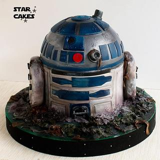 R2-D2 Dagobah cake