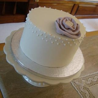Ruffle Rose Cake with Royal Icing detail