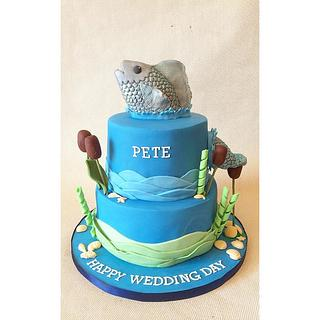 Fishing themed Grooms Cake!