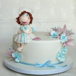 First Holly Communion - Cake by lamps