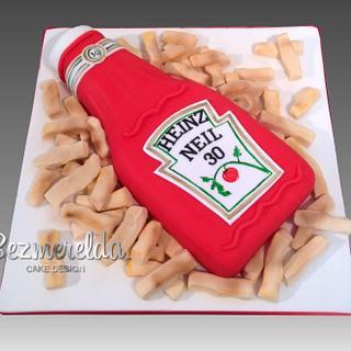 Heinz Ketchup cake