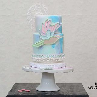 Mosaic Bird - Sugar Art for Autism - Cake by Mila - Pure Cakes by Mila