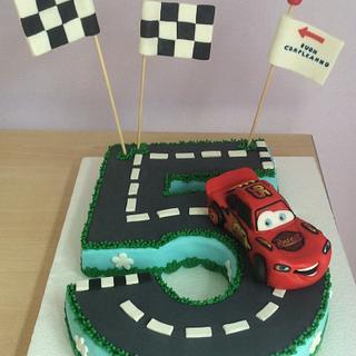 Topper cake Saetta McQueen