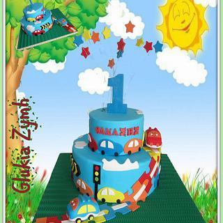 Little Cars Cake - Cake by Morfoula