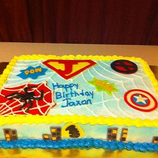 Superhero Cake - Cake by Dana