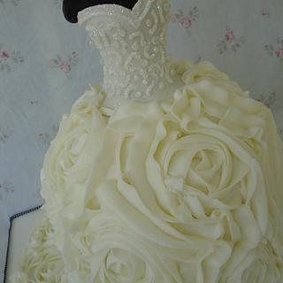 Buttercream Rosettes Bridal Gown