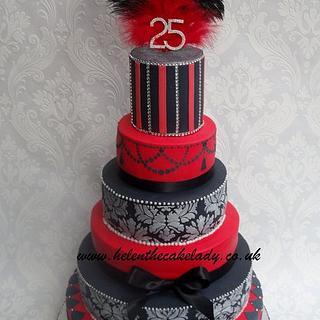 6 tier celebration cake - Cake by Helen Fletcher