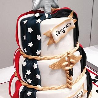 Army Promotion Cake - Patriotic