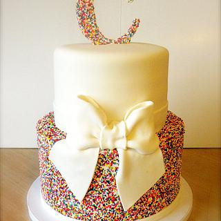 Rainbow sprinkles wedding cake