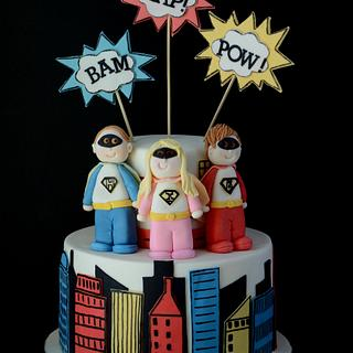 Superheroes - Cake by Sugarpatch Cakes