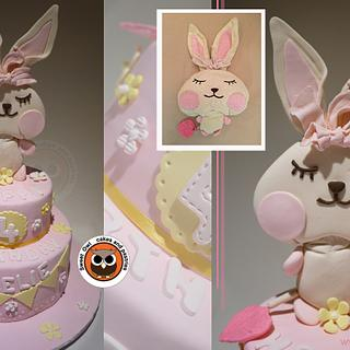 big rabbit cake topper cake