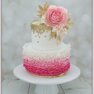 Pink & Gold - Cake by Jo Finlayson (Jo Takes the Cake)