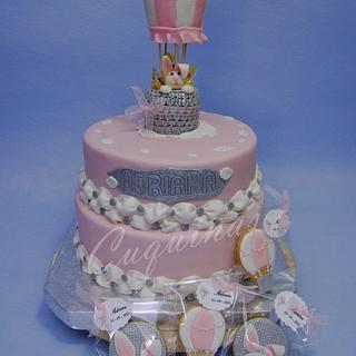 Baptism Cake and cookies - Cake by Gardenia (Galecuquis)