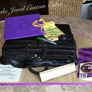 Briefcase cake