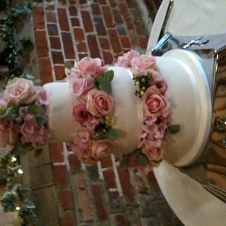 3 Tier Summer Wedding Cake