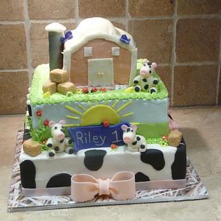 Little Farm Birthday Cake - Cake by Marcia Hardaker