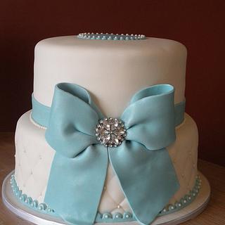 1st communion 2-tiered cake