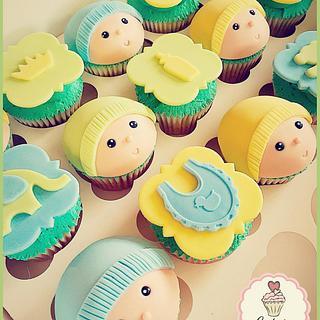 Babyshower Cupcakes - Cake by Cutsie Cupcakes