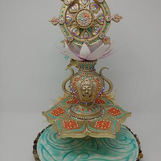 Eight Auspicious Signs of Buddhism - Cake by Magda Zerbe