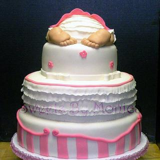 Baby Shower Cake For Courtney - Cake by Sweets By Monica