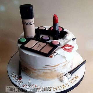 Kym - MAC Make Up Birthday Cake - Cake by Niamh Geraghty, Perfectionist Confectionist
