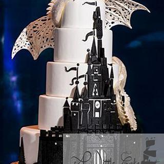 Disney Fairy Tale Weddings and Honeymoon Wednesday Wedding Cake