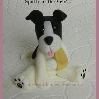 Spotty & Fudge at the Vet's - Cake Topper for Vet's Cake