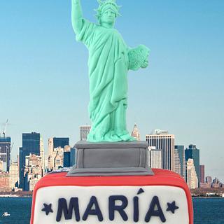 Statue of Liberty Birthday Cake - Cake by Artym