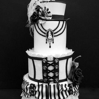 B&W Steampunk Wedding